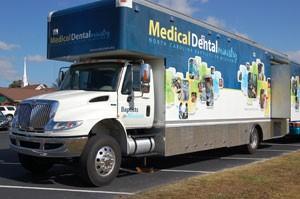 Image of the North Carolina Baptist Van in Denver, North Carolina