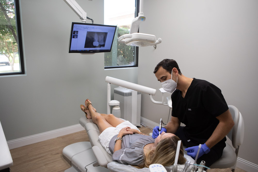 Image of Dr. Andy Pernell performing a dental checkup at Summit Family Dentistry in Denver, North Carolina
